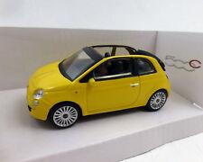 FIAT 500 Convertible, amarillo, 1:43 , MONDO