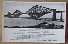 Old Bridge View Real Photo Postcard - The Forth Bridge Fife Scotland