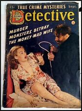 """""""Bedsheet"""" Pulp Magazine. FLYNN'S DETECTIVE. September 1942. Woolrich serial."""