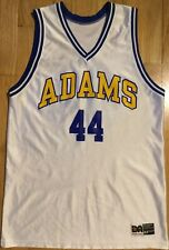 70s Vintage high school basketball jersey M Adams #44 white Don Alleson 80s