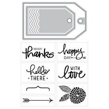 Momenta Art C Cutting Dies & Clear Cling STAMPS Thanks for Card Making Stamping