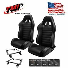 TMI Pro Series - Pair of Chicane Sport Racing Seats w/Brackets 1964-1970 Mustang