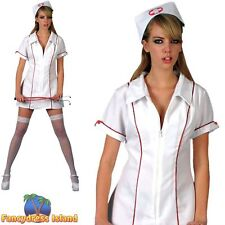 Head Nurse Uniform Outfit Sexy Hen Night Do Ladies Womens Fancy Dress Costume