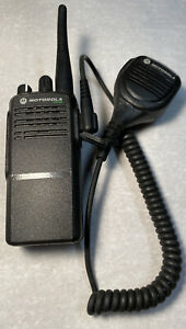 Motorola CP185 Two Way Radio With Mic And Battery Read Description