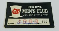 Vintage RED OWL GROCERY STORE Men's Club Membership Card Son of Alf Bergerud