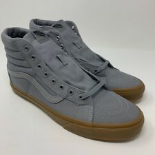 VANS Mens SK8-Hi Reissue Canvas Sneakers Frost Gray Lace Up VN0A2XSBLWX 13 New