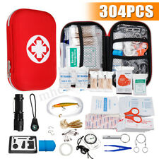 304Pcs Outdoor Emergency Survival Kit Travel Camping Hiking Gear Sports Medical