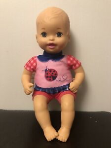 Fisher-Price Mattel Baby So New Doll Little Mommy pink red ladybug outfit