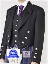 16 Pcs | Scottish Prince Charlie Kilt Jacket, Vest & Kilt, Sporran outfit set