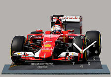MODEL CARS, FORMULA ONE 2015, F1, SEBASTIAN VETTEL, FERRARI with Clock