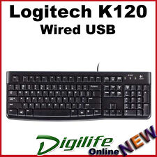Logitech K120 Keyboard Black Wired USB Compact Quiet Keys