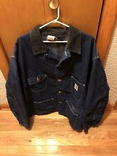 New listing Vintage Carhartt Blanket Lined Blue Denim Jean Chore Coat Jacket Made In Usa