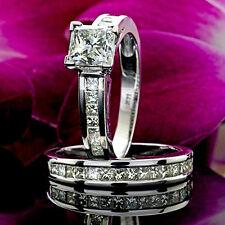 Solitaire 2.24 Carat SI1/G Princess Diamond Engagement Ring White Gold Enhanced
