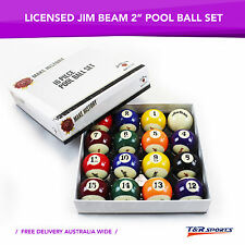 "Formula Jim Beam 16x 2"" Pool Balls Set for Birthday Fathers Day Gift Free Post"