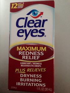 CLEAR EYES MAXIMUM REDNESS RELIEF EYE DROPS BURNING DRYNESS 30ml 1 fl.oz. 01/23
