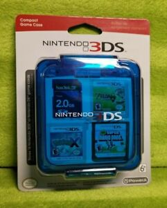 Nintendo 2DS 3DS Compact Game Case - Clear Blue - Stores 16 Game Cards - NEW