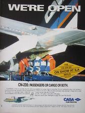 5/1992 PUB AVION CASA CN-235 QC AIRCRAFT BINTER CANARIAS CANARIES ILA BERLIN AD