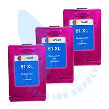 3 Color New 61XL 61 Ink Cartridges for HP DeskJet 1510 2540 2545 1512 2510 3512
