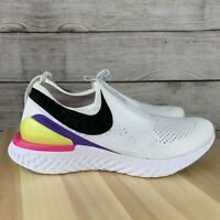 NIKE EPIC REACT FLYKNIT WHITE MULTICOLOR Women's Running Shoes CI1290 100 SIZE 6