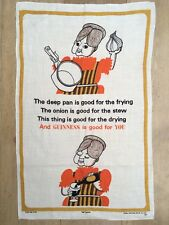 Vintage Guiness Advertising Tea Towel