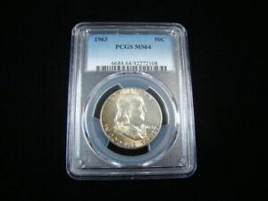 1963 Franklin Silver Half Dollar PCGS Graded MS64 #42272108