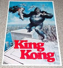 KING KONG Poster #3419 RKO General 1976 Dargis Standing On Twin Towers NYC