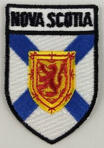 Nova Scotia Province Shield Crest Patch Embroidered Iron On Sew On