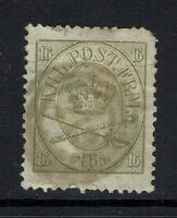 Denmark SC# 15, Used, Crease, Clipped CornerPerf, sm Hinge Remnant -  Lot 032017