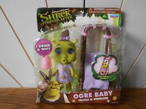 OGRE BABY FELICIA & STROLLER action figure SHREK FOREVER AFTER Playmates 2010