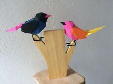 Origami Vogel Vögel Nachtigall Figur Papierkunst Deko Papier Holz Geschenk Hobby