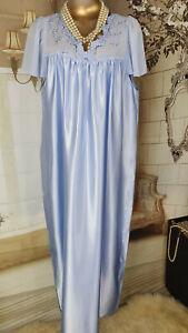 Shiny Slippery Satin Nighty Nightgown Nightdress UK 14 Worn  {K92