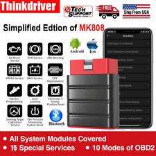 2020 Thinkdriver Bluetooth OBD2 Scanner Code Reader Full System Car diagnostic