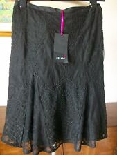 Per Una Black Lined Lace Skirt, Size 22, Machine Washable, M&S, BNWT