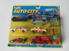 NEW AUTO CITY Hot Wheels 93425 Ferrari ShelI Team Racing Set Indy Cars RARE NIB