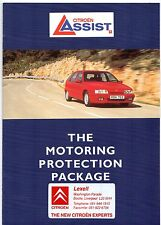 Citroen Assist Rescue Cover 1993 UK Market Owners Handbook