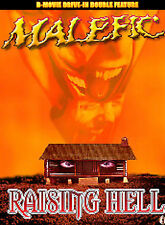 MALEFIC /  RAISING HELL  DRIVE-IN DOUBLE FEATURE  NEW SEALED DVD FREE SHIPPING