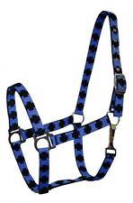 New ***  2 Ply nylon halter with cross pattern - Blue.