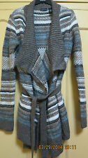 VICTORIAS SECRET DRAPE CARDIGAN  - taupe multicolor stripe