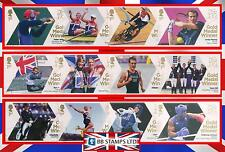 London 2012 Olympic Games Gold Medal Winners Set of 29 Single Stamps.
