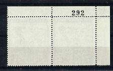 SARK 1966 1/- NORMAN CONQUEST PAIR SHEET NUMBER ON REVERSE MNH