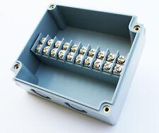 TERMINAL BLOCK ENCLOSURE, 10 POSITION, 15 AMP, IP65, 90X100X45mm, GRAY, 1008