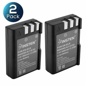 2X EN-EL9 EN-EL9A Rechargeable Battery For Nikon D40 D60 D40x D3000 D5000 D3X