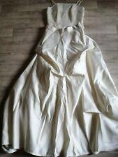 ein Kleid/Kostüm/Brautkleid in crem Gr 38/40 dreiteilig