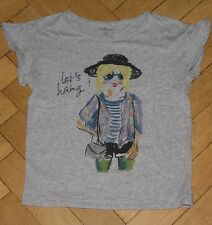 "Bellerose T-Shirt grau Gr. 14 Y 158 164 ""Let's hang!"" Glitzer"
