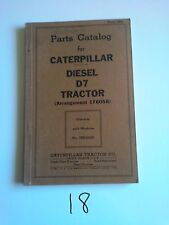 CATERPILLAR DIESEL D7 TRACTOR 1943 Parts Catalog Book Form 7836