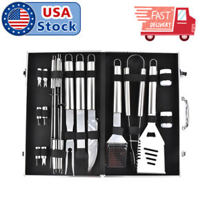 BBQ Grill Tool Set- 18 Piece Stainless Steel Barbecue Grilling Accessories