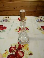 """Vintage ~ Clear Glass ~ Refillable Perfume Decanter With Stopper 7 5/8"""" H"""