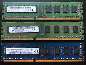 4GB DDR3 PC3-12800 1600mhz 240-pin DIMM RAM 3 Peices