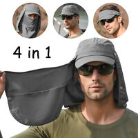 4in1 360°Outdoor Sport UV Protection Fishing Sun Hat EarFlap Neck Face Cover Cap
