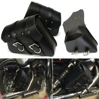 1 pair Motorcycle Saddlebags PU Leather Pouch Bag For Touring M2E6
